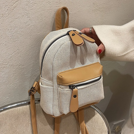 retro large-capacity clashing color dual-use canvas backpack wholesale Nihaojewelry NHLH428410's discount tags