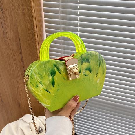 fashion acrylic chain apple shape messenger bag wholesale Nihaojewelry NHLH428414's discount tags