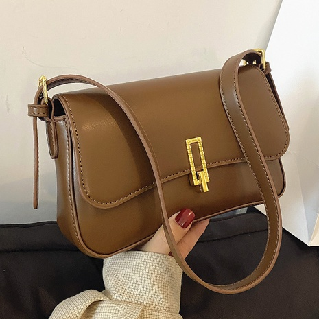 retro metal buckle shoulder square bag wholesale Nihaojewelry NHLH428415's discount tags