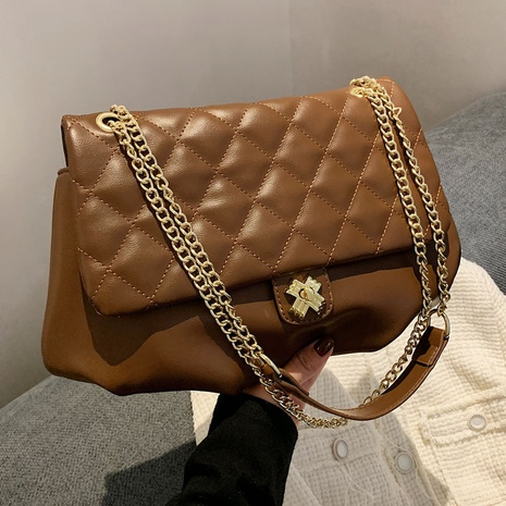 fashion cross buckle lingge chain shoulder bag wholesale Nihaojewelry NHLH428417's discount tags