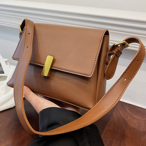 Retro solid color matte messenger bag wholesale Nihaojewelry NHLH428421's discount tags