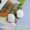 NHOM2080724-Oval-Silver-Needle-Earrings-2.52CM