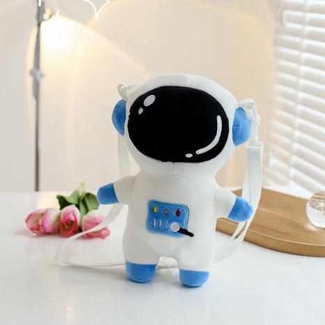 Cartoon plush spaceman messenger bag wholesale Nihaojewelry NHTG428221's discount tags