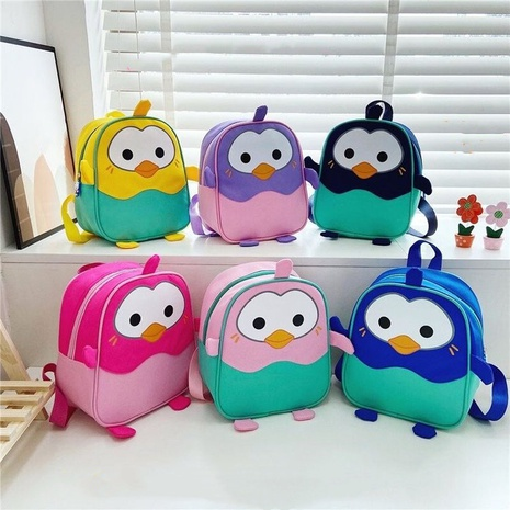 cartoon hit color penguin children backpack wholesale Nihaojewelry NHTG428241's discount tags