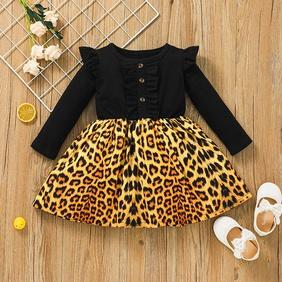 Vintage Baby Leopard Print A-line Skirt Wholesale Nihaojewelry NHSSF428638