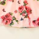 casual flower printing pink longsleeved dress wholesale nihaojewelry NHSSF428637