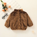 fashion childrens zipper brown jacket clothing wholesale nihaojewelry NHSSF428641
