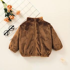 fashion children's zipper brown jacket clothing wholesale nihaojewelry NHSSF428641