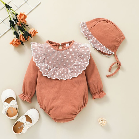 New hooded solid color baby triangle romper wholesale nihaojewelry  NHSSF428671's discount tags