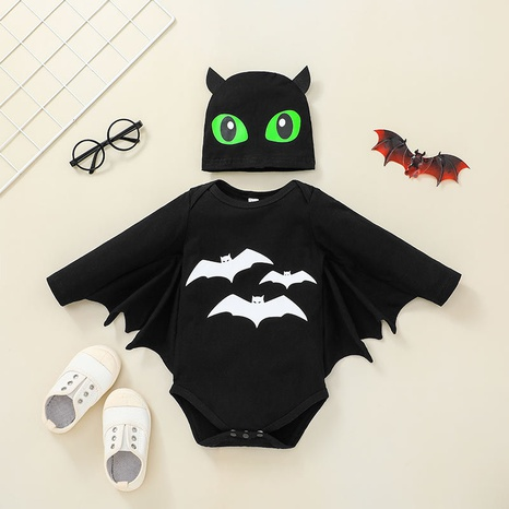 new Halloween bat shape baby one-piece romper wholesale nihaojewelry  NHSSF428680's discount tags