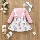 cartoon elephant print childrens romper suspender skirt twopiece set wholesale nihaojewelry  NHSSF428703