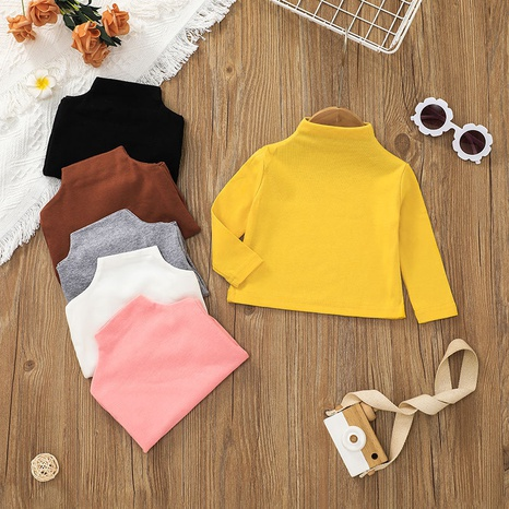 multi-color high-necked long-sleeved baby sweater wholesale nihaojewelry  NHSSF428710's discount tags
