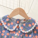 fashion lace neck flower printing polka dot skirt wholesale nihaojewelry NHSSF428713