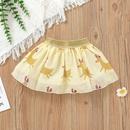 Fashion Christmas Cartoon Printing Long Sleeve Romper Short Skirt Set Wholesale Nihaojewelry NHSSF428714