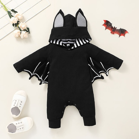 Halloween solid color bat baby funny romper wholesale nihaojewelry  NHSSF428720's discount tags