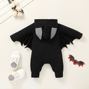 Halloween solid color bat baby funny romper wholesale nihaojewelry  NHSSF428720