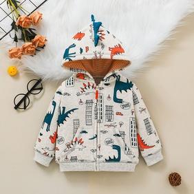 cartoon baby hooded long-sleeved zipper shirt wholesale nihaojewelry NHSSF428724