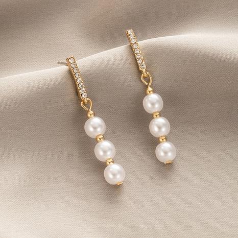 Pendientes colgantes de perlas de diamantes de imitación de estilo coreano al por mayor nihaojewelry NHGY429414's discount tags