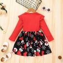 Fashion Christmas Children Long Sleeve Stripe Printing Dress Wholesale Nihaojewelry NHSSF429332