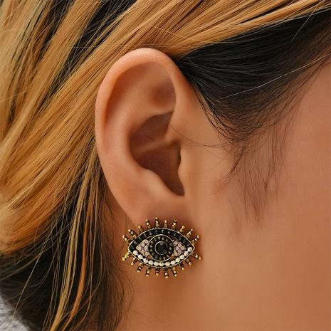pendientes de diamantes de ojos de diablo retro al por mayor Nihaojewelry NHYAO415746's discount tags