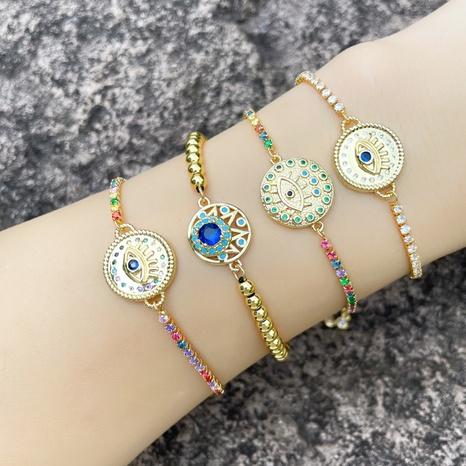 Pulsera de cadena de ojo de diablo de circón de color simple al por mayor Nihaojewelry NHAS415882's discount tags