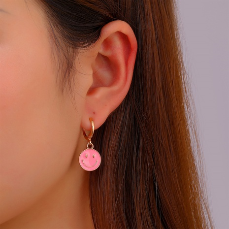retro smiley face ear clip wholesale Nihaojewelry NHDP415937's discount tags