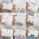 Korean simple combination fruit geometric inlaid zircon earrings wholesale nihaojewelry NHBP416227