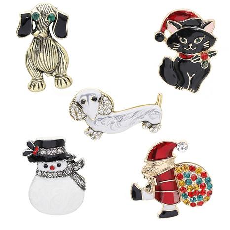 Navidad Papá Noel perro mascota aleación vaquero broche al por mayor Nihaojewelry NHCU416394's discount tags