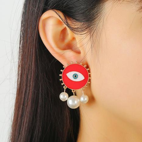 Pendientes de borla de perlas de ojos de diablo de moda al por mayor Nihaojewelry NHKQ416546's discount tags