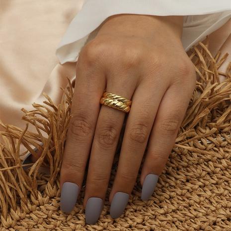 18K Twist Copper Women's Ring NHIQ439757's discount tags