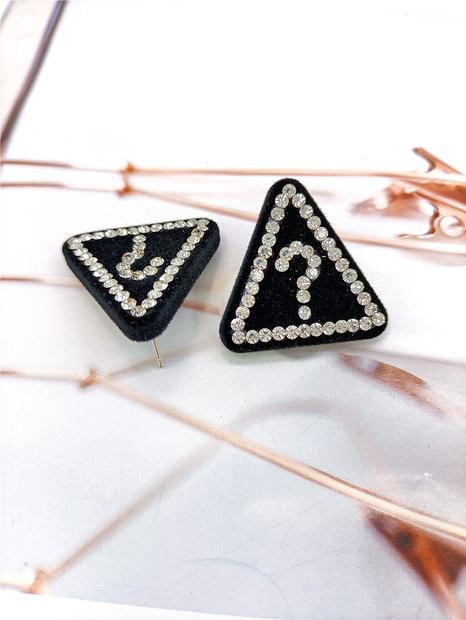 retro fashion geometric triangle inlaid rhinestone earrings wholesale nihaojewelry NHVA429876's discount tags