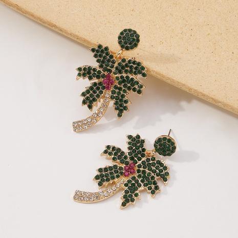 pendientes colgantes de diamantes de árbol de coco al por mayor nihaojewelry NHMD430134's discount tags