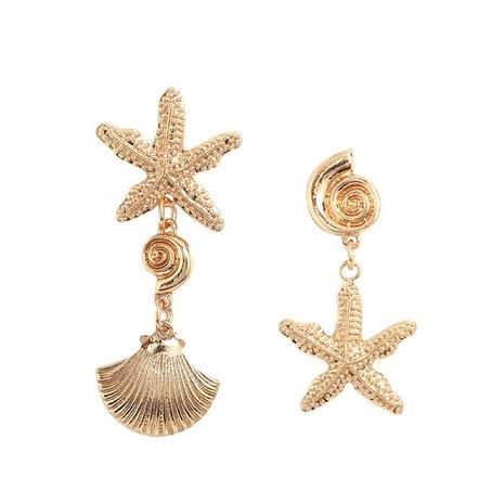 Pendientes colgantes asimétricos de estrella de mar de concha al por mayor Nihaojewelry NHMD430127's discount tags