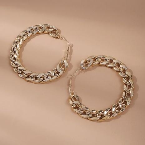 Aretes de cadena circular exagerados E8606 NHMD430124's discount tags