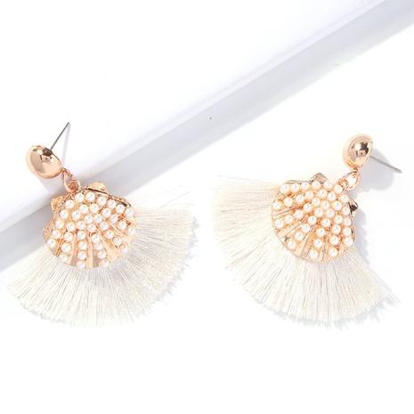 Pendientes de borla de perlas de imitación de estilo bohemio al por mayor nihaojewelry NHMD430177's discount tags