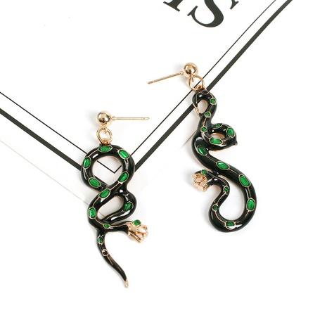 Pendientes colgantes con forma de serpiente de gota de aceite al por mayor Nihaojewelry NHMD430173's discount tags