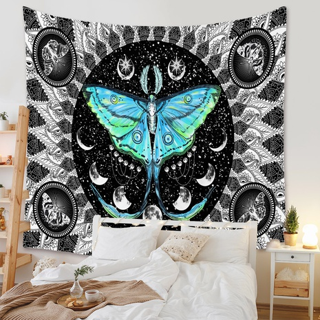 bohemian blue butterfly tapestry background wall decoration wholesale Nihaojewelry NHZAJ429920's discount tags