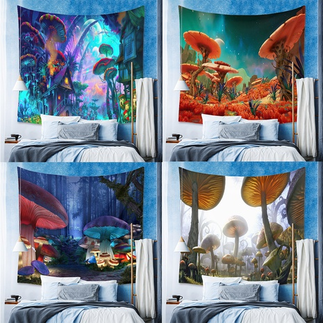 fashion mushroom psychedelic contrast color printing tapestry wholesale Nihaojewelry  NHZAJ429921's discount tags