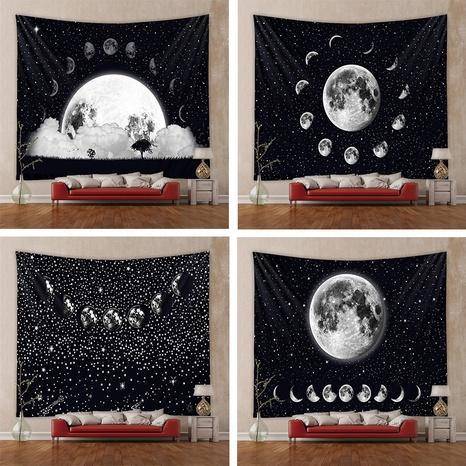 retro moon phase printing background cloth wholesale Nihaojewelry  NHZAJ429923's discount tags