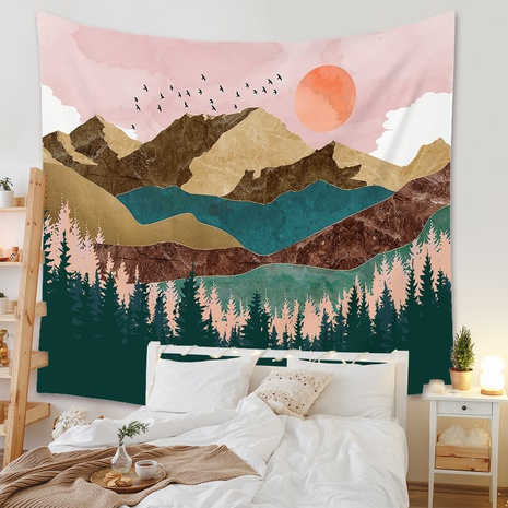 Fashion Landscape Painting Printing Room Decoration Wall Cloth Wholesale Nihaojewelry NHZAJ429924's discount tags
