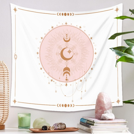 simple sun moon printing background decoration hanging cloth wholesale Nihaojewelry  NHZAJ429925's discount tags