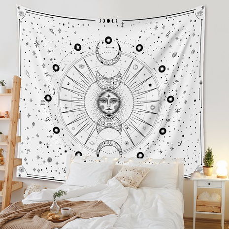 fashion portrait moon phase printing room decorative background cloth wholesale Nihaojewelry  NHZAJ429929's discount tags