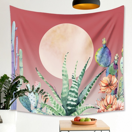 Moon phase flowers printing bedroom decoration wall cloth wholesale Nihaojewelry  NHZAJ429930's discount tags