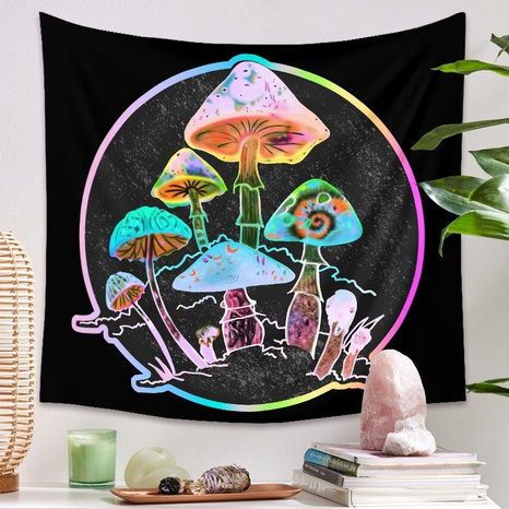 Bohemian psychedelic mushroom background hanging cloth tapestry wholesale nihaojewelry NHZAJ429932's discount tags