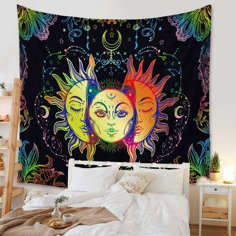 bohemian colorful sun tapestry background wall decoration wholesale Nihaojewelry NHZAJ429934's discount tags