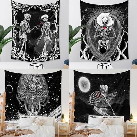 retro black skull tapestry background wall decoration wholesale Nihaojewelry   NHZAJ429937's discount tags