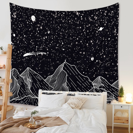 simple lines mountain tapestry background wall decoration wholesale Nihaojewelry NHZAJ429938's discount tags