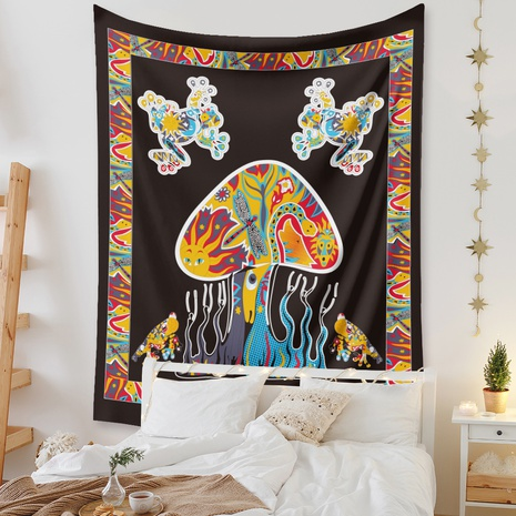 ethnic colorful mushroom tapestry background wall decoration wholesale Nihaojewelry NHZAJ429939's discount tags