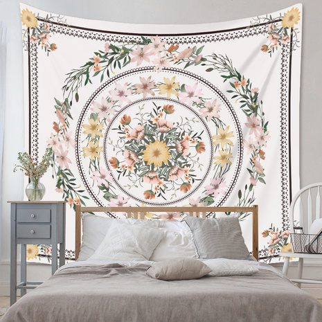 bohemian floral printing background decoration hanging tapestry wholesale nihaojewelry NHZAJ429947's discount tags