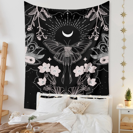 bohemian tapestry butterfly flower printing background hanging cloth tapestry wholesale nihaojewelry NHZAJ429948's discount tags